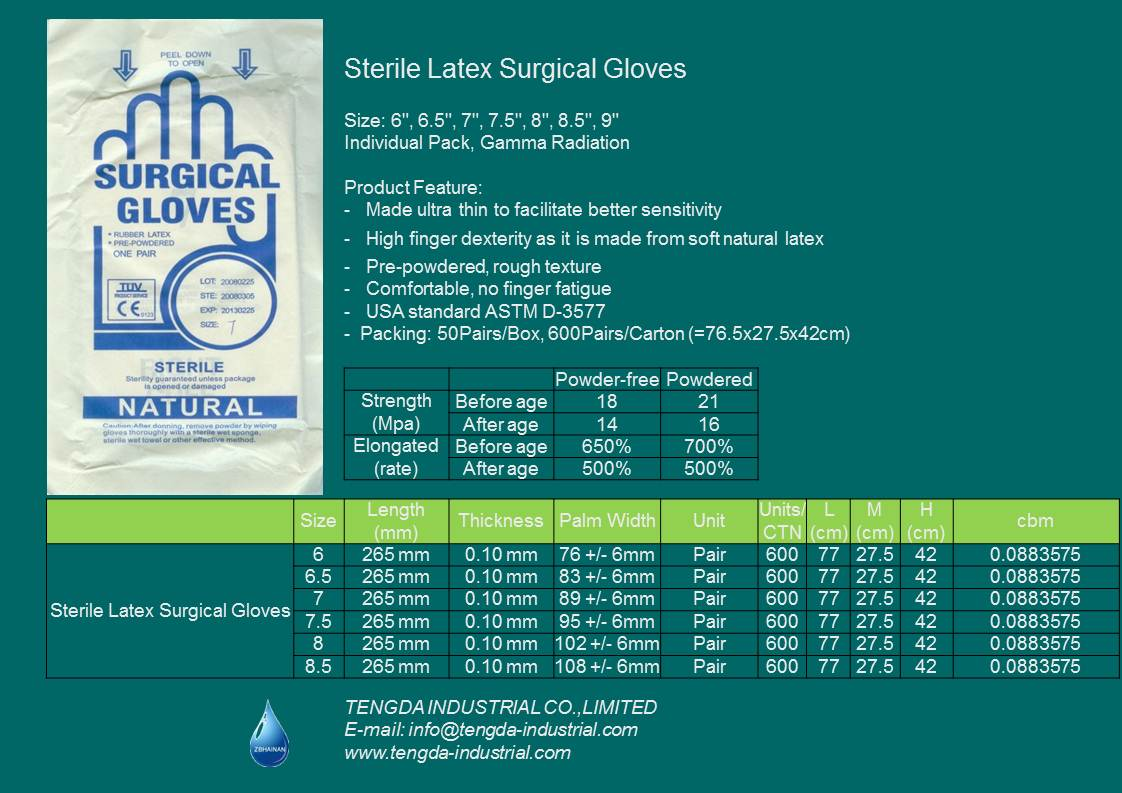 Latex Surgical Goves