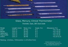 * prismatic thermometer